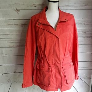 Coral color Coldwater creek jacket size 12